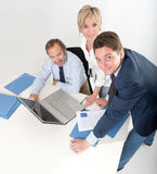 Smiling business people Stock Image