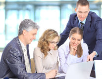 Smiling business people Stock Photos