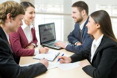 Smiling business people Stock Photography