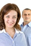 Smiling business people Stock Images