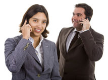 Smiling business people Royalty Free Stock Images