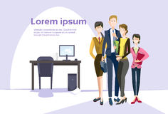Smiling Business People Group Team Modern Office Interior Teamwork Collaboration Royalty Free Stock Image