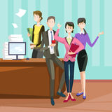 Smiling Business People Group Team Modern Office Interior Teamwork Collaboration Royalty Free Stock Photo