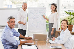 Smiling business people having a meeting Stock Image