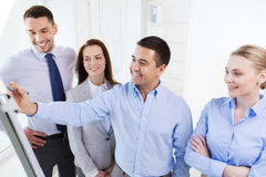 Smiling business people meeting in office Stock Images