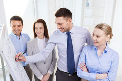 Smiling business people meeting in office Stock Photo