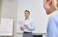 Smiling business people meeting in office Royalty Free Stock Photo