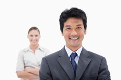 Smiling business people posing Royalty Free Stock Images