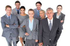 Smiling business people smiling at camera Royalty Free Stock Photos