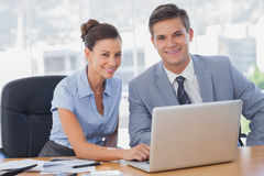 Smiling business people Royalty Free Stock Photography