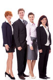Smiling business team man female isolated Stock Images