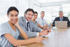 Smiling business team on a meeting Stock Images