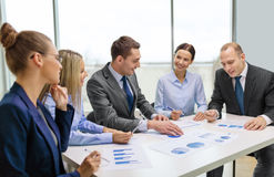 Smiling business team at meeting Royalty Free Stock Photo