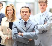 smiling business team standing Stock Image