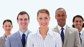 Smiling business team together Royalty Free Stock Photography