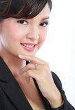 Smiling business woman. Royalty Free Stock Image