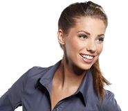 Smiling business woman. Royalty Free Stock Images