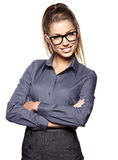 Smiling business woman. Royalty Free Stock Photography