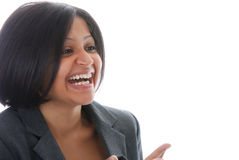 Smiling business woman Stock Photos