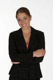 Smiling Business Woman. Smiling Young Business Woman with Arms Folded Royalty Free Stock Photo