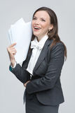 The smiling business woman Royalty Free Stock Image