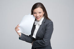 The smiling business woman Royalty Free Stock Photos