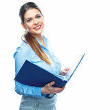 Smiling Business woman with business folder. Stock Photos