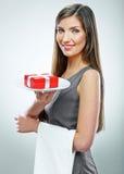 Smiling business woman conceptual portrait. Royalty Free Stock Photo