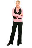 Smiling business woman with crossed arms on chest Stock Photography