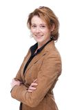 Smiling Business Woman with Folded Arms Royalty Free Stock Photos