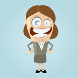 Smiling business woman. Funny illustration of a smiling business woman Stock Images