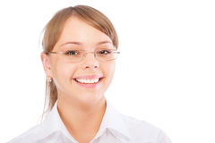 Smiling business woman in glasses Royalty Free Stock Photo