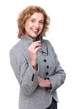 Smiling Business Woman and Glasses Royalty Free Stock Images