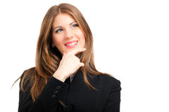 Smiling business woman having an idea Stock Image