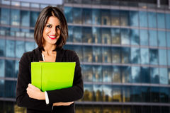 Smiling business woman Stock Images