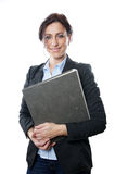 Business woman holding folder Stock Photos