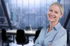 Free Smiling Business Woman In The Office Royalty Free Stock Photo - 93199075