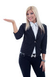 Smiling business woman, isolated over white background Stock Image