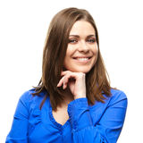 Smiling business woman isolated portrait Royalty Free Stock Photo