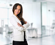 Smiling business woman, isolated on white background Stock Photo