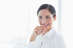 Smiling business woman looking away Stock Images