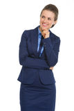Smiling business woman looking on copy space Royalty Free Stock Photography