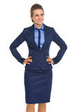 Smiling business woman looking on copy space Royalty Free Stock Photos