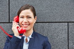 Smiling business woman making call Royalty Free Stock Photography