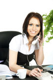Smiling business woman in office. Stock Images