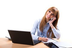 Smiling business woman in office Royalty Free Stock Photography