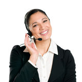 Smiling business woman operator with headset Royalty Free Stock Image