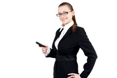 Smiling business woman with phone Stock Images