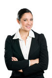 Smiling business woman portrait Stock Photos