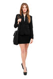 Smiling business woman portrait full length Stock Photo